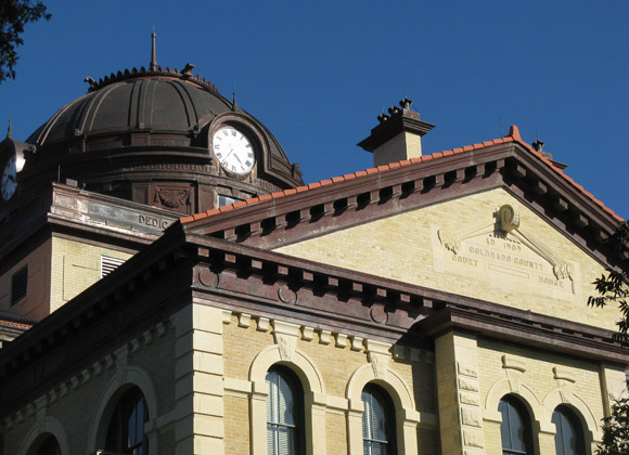Colorado County Courthouse roof