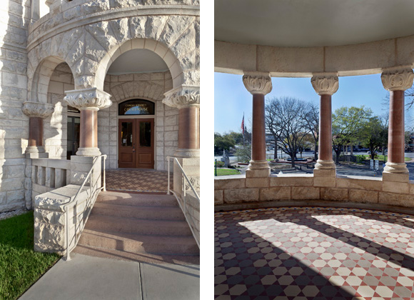 Comal County Courthouse porch