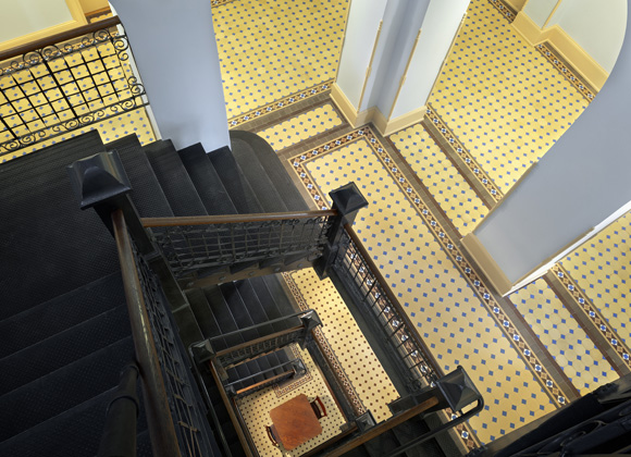 Comal County Courthouse stairs