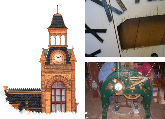 Llano County Courthouse clock