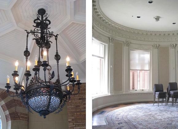 Sealy Mansion Open Gates interior