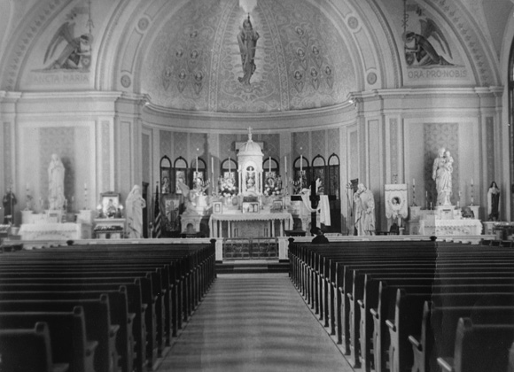 St. Mary's Catholic Church Fort Worth Historic Interior