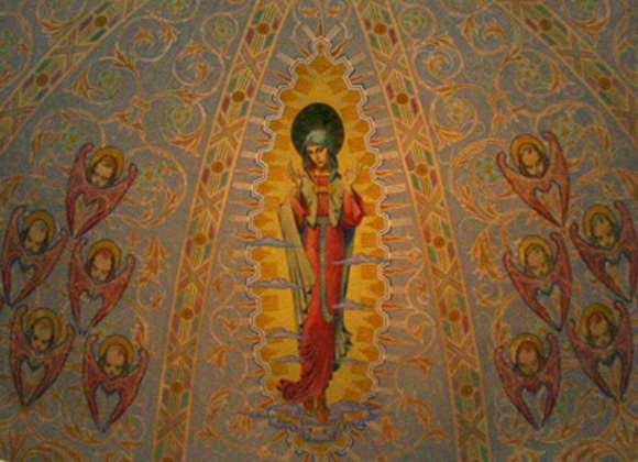 St. Mary's Catholic Church Fort Worth Mural